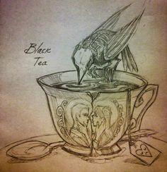 drawing skull tea ghost sketches Chiara Bautista
