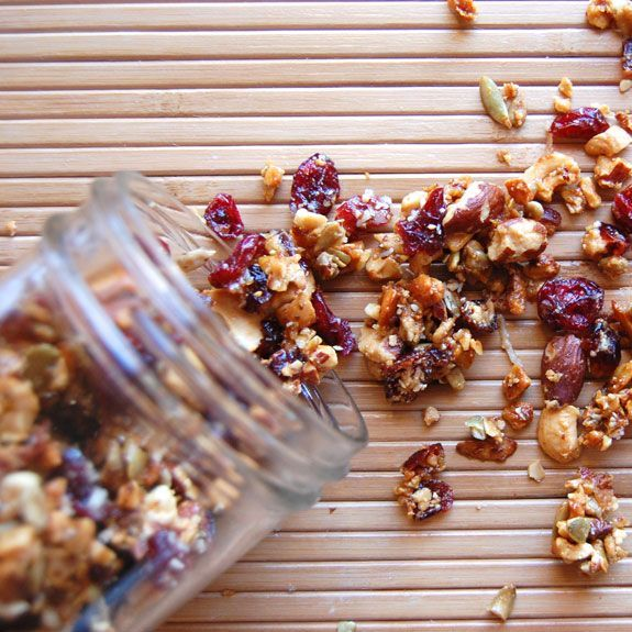 Homemade Sweet and Salty Granola {grain-free}