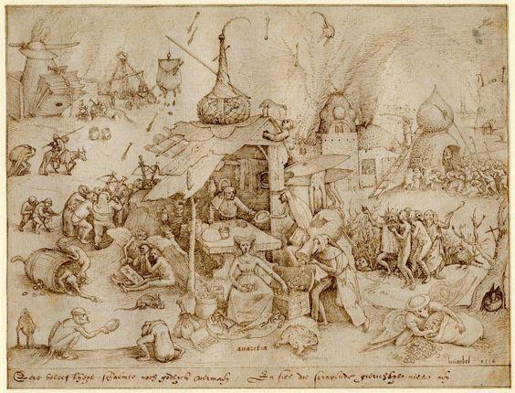 Pieter Bruegel the Elder - Avarice - 1556: