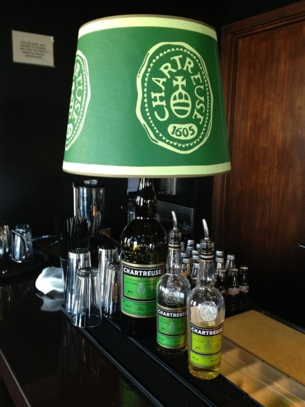 Lamp with shade Chartreuse in an Australian bar. Thanks @Wizey Baleitavuki #chartreuse #liqueur #cocktails