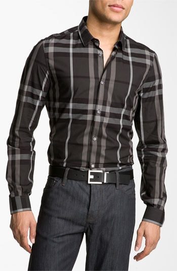 Burberry London 'Pembury' Plaid Sport Shirt