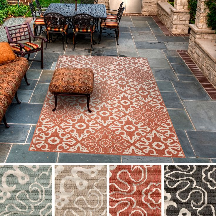 This indoor/outdoor rug is the perfect addition for your patio or sunroom. Created to withstand the rigors of outdoor use, the colors and designs will add to the outdoor ambiance whether rain or shine.