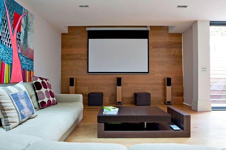 Домашний кинотеатр в подвале расширение Edwardian дом