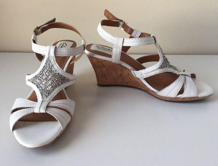 Women S Clarks Bendables Platform Wedge Sandals 7 5 M