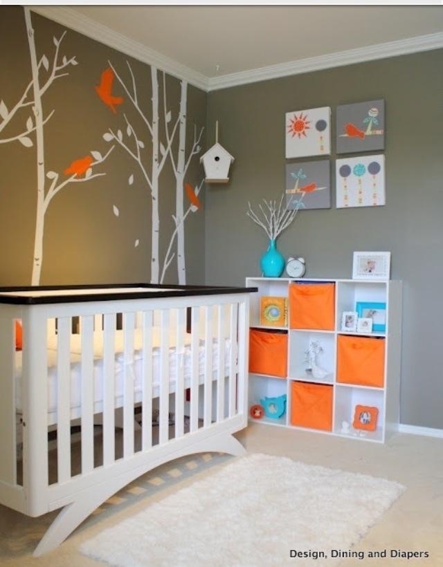 Cute colors boy room home decor pinterest beb - Habitacion bebe moderna ...