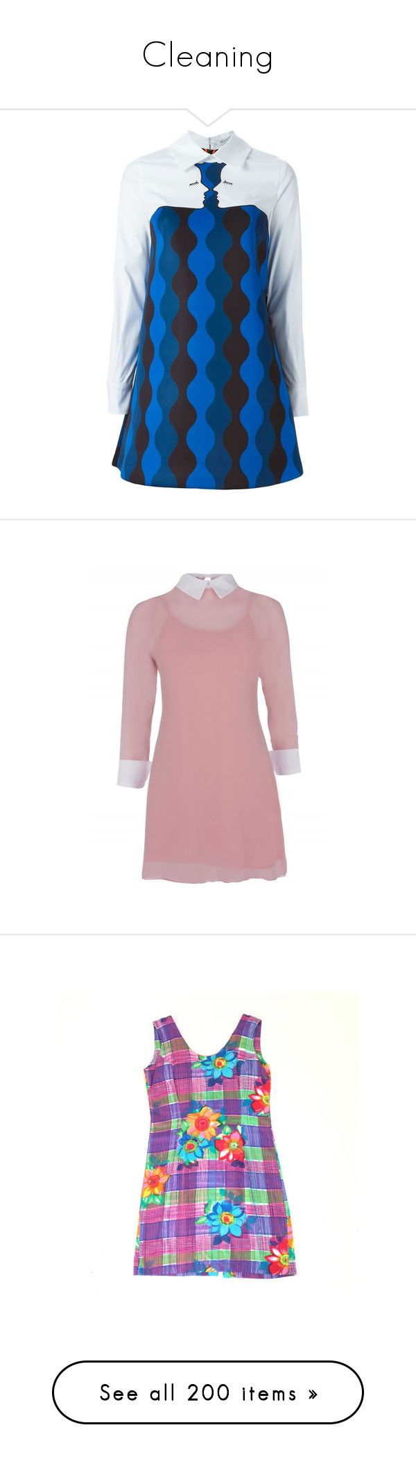 """Cleaning"" by mikki102 ❤ liked on Polyvore featuring dresses, white, white shift dress, white dress, white day dress, vivetta dress, vivetta, pink, going out dresses and pink dress"