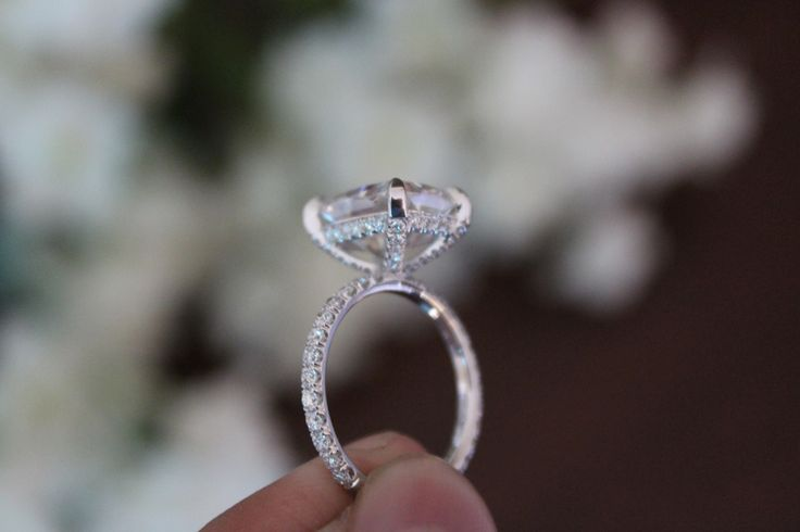 Oval Cushion Halo Engagement Ring