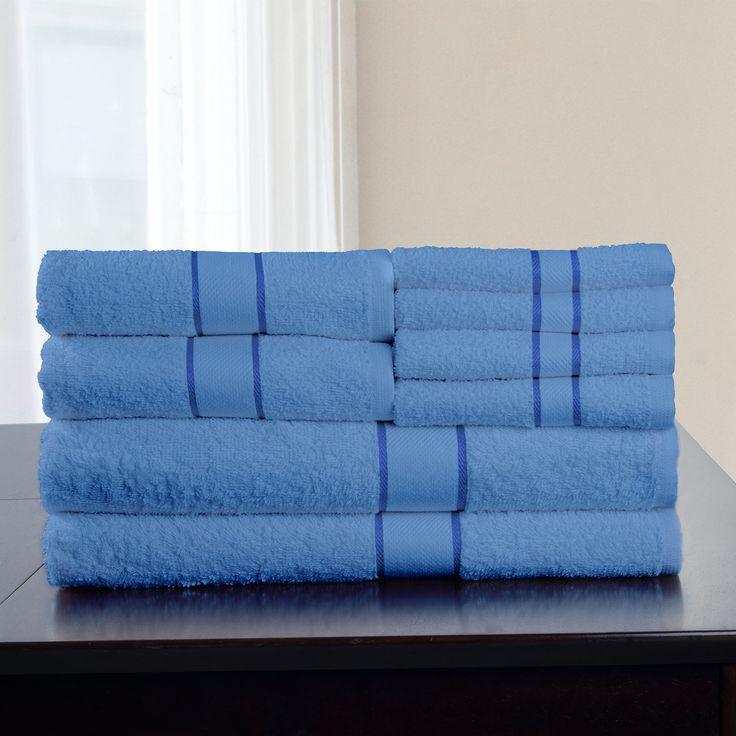 8-Piece Egyptian Cotton Towel Set