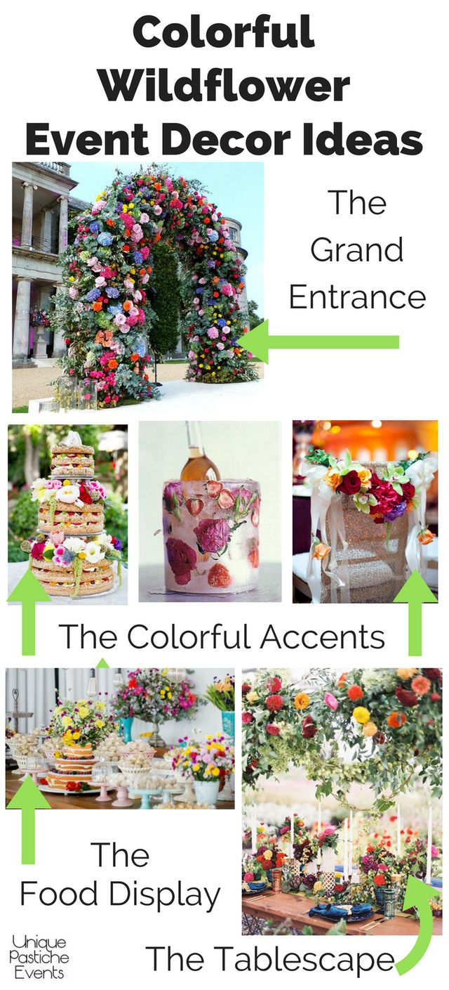 Colorful Wildflower Party Ideas #IdeaBoard #InspirationBoard