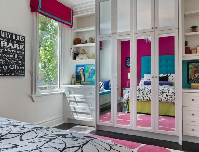 Mirror closet girls bedroom idea | Macie | Pinterest on Mirrors For Teenage Bedroom  id=69783