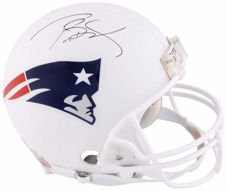 Sportsmemorbilia tom brady patriots signed white matte