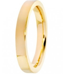 Yellow gold flat court band from Ingle & Rhode