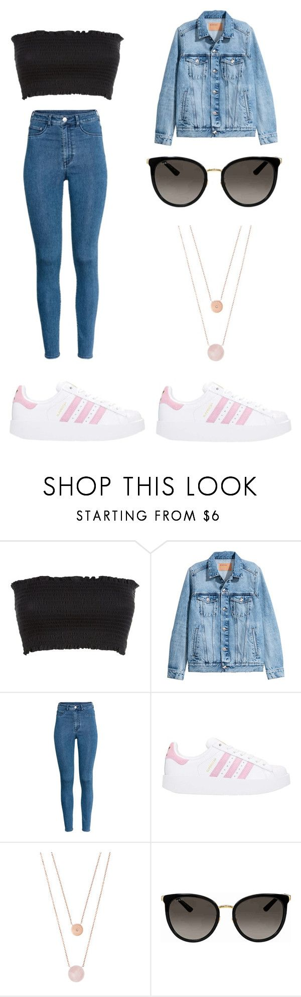 """""""Comfy and Cute"""" by indiac-joseph on Polyvore featuring H&M, adidas, Michael Kors and Gucci"""