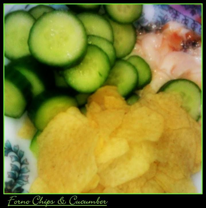 dipped chips & cucumber