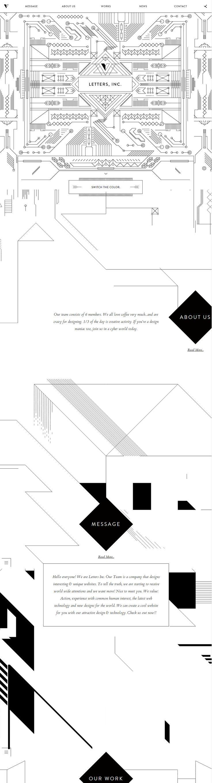 LETTERS, INC., May 29, 2014. http://www.awwwards.com/web-design-awards/letters-inc-design-team #UI #Inspiration #Illustration #OnePage #WebDesign #Responsive #SOTD #Awwwards
