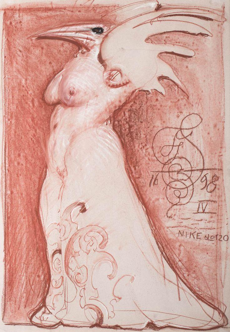 FRANCISZEK STAROWIEYSKI (1930 - 2009)  NIKE NR 120, 1998   pastel, papier / 100 x 69 cm