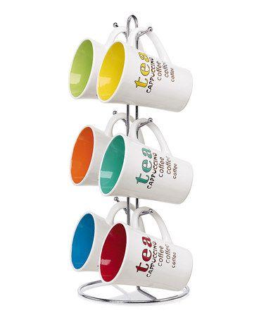 'Tea' Mug & Stand Set by home basics #zulily #zulilyfinds