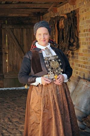 """""""Magasinet Bunad : Skånegården på Skansen, costume from Scania (Skåne) Sweden"""""""