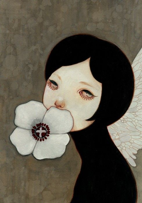 cryArt Inspiration, Shimoda Hikari, Artists Unknown, Arty Art, Portraits, Flower Girls, Art Painting, Art Illustration, Hikari Shimoda