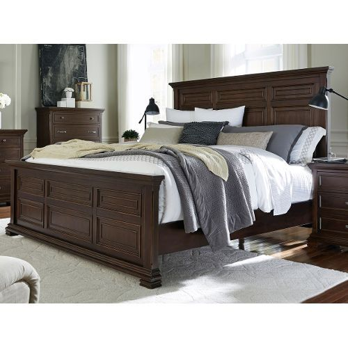 Brown Ale Classic Traditional Cal-King Panel Bed - Weston