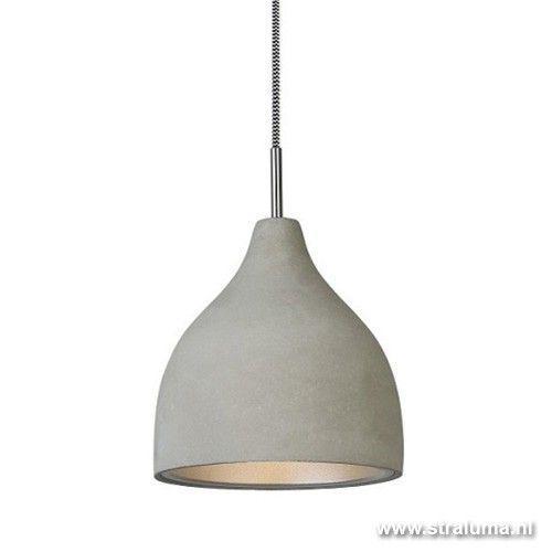 Trendy hanglamp beton grijs keuken/gang