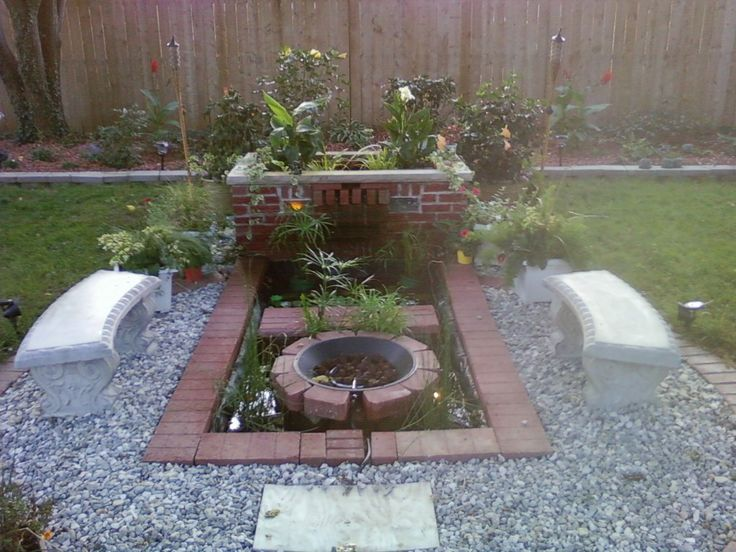 42 best images about fire pit on pinterest built in gas for Garden pond grills