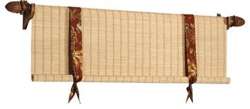 Woven Wood Valances - eclectic - curtains - other metro - by The Interiors Workroom, Inc