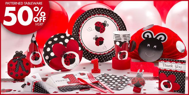 Fancy Ladybug 1st Birthday Party Supplies - Ladybug Birthday - Party City