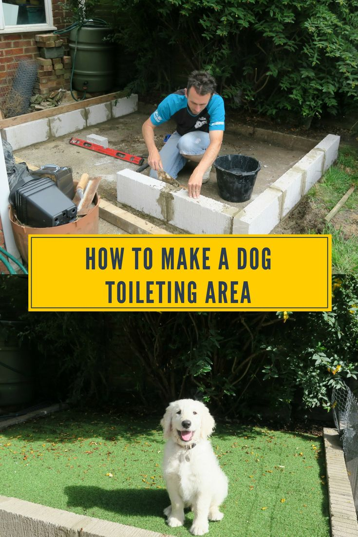 How To Make A Dog Toileting Area