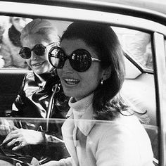 Celebrity Oversize Vintage Jackie O Kennedy Round Designer Sunglasses from zeroUV
