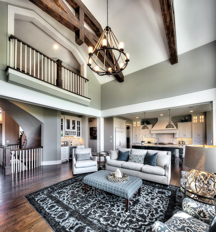 living room two story great room coastal home open on floor and decor id=40759