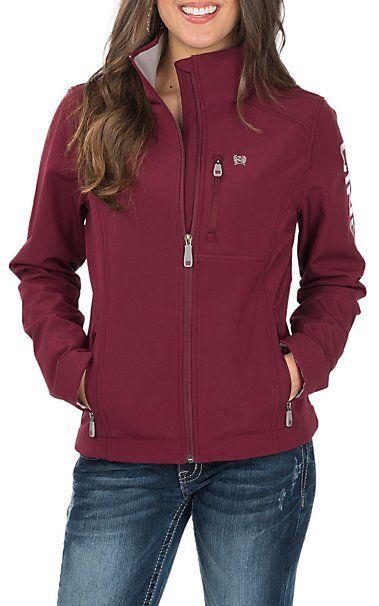 c58e8b22a13 Cinch Women s Burgundy Printed Bonded Jacket
