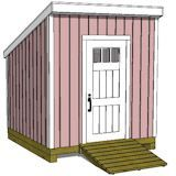Free Plans and Material Lists for an 8x8 Tool or Storage Shed from iCreatables.com.