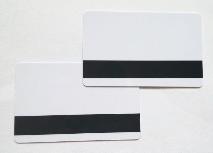 10pcs Blank White PVC Hico 1-3 magnetic stripe card Plastic Credit Card 30Mil inkjet printable