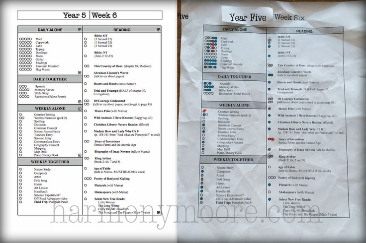 Organizing Ambleside Online into weekly charts.  The schedules are based off of AO, but tweaked for my family's needs.  To see the official AO reading lists, see here: http://amblesideonline.org/curriculum.shtml