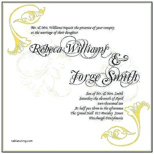 Th Wedding Anniversary Invitation Cards Samples On