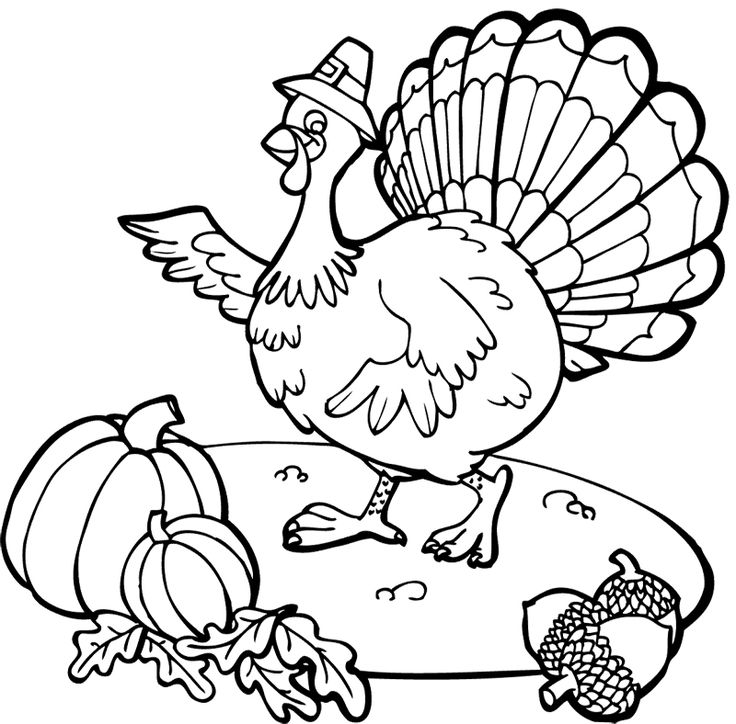 21 best Cool Thanksgiving Coloring Pages For Children images on ...