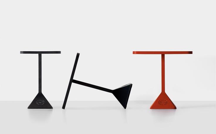 TNP by Christophe Pillet - Kristalia #coffeetable #outdoordesign #barfurniture #redtable #pillet