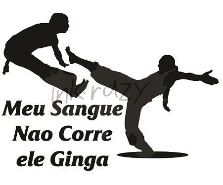 Estampa Capoeira - Camiseta Branca