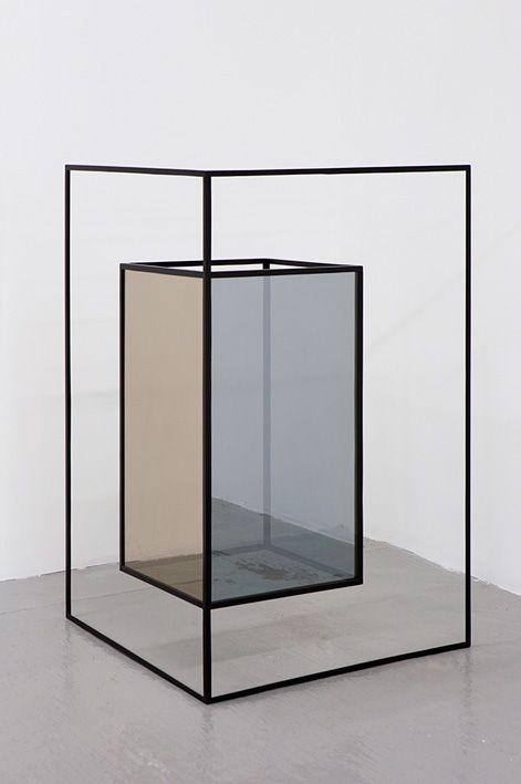 Jose Leon Cetillo,  Double Agent (02),2009Iron, automotive lacquer, reflective glass