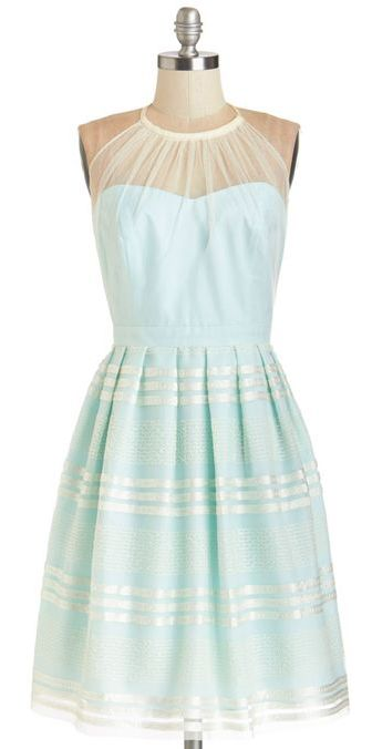 Mint stripe dress