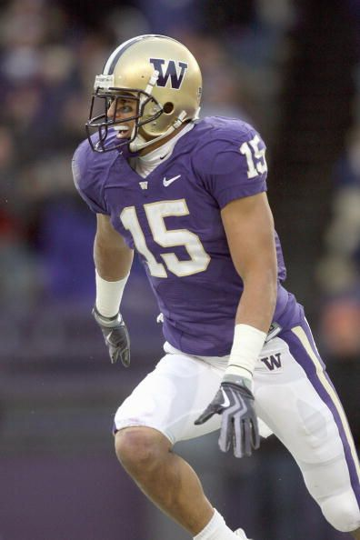 Jermaine Kearse of the Washington Huskies moves on the field during game against the California Bears on December 5 2009 at Husky Stadium in Seattle...
