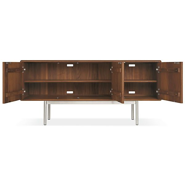 Hensley Media Cabinets - Hensley Media Cabinet in Walnut - Modern Media Storage - Room & Board