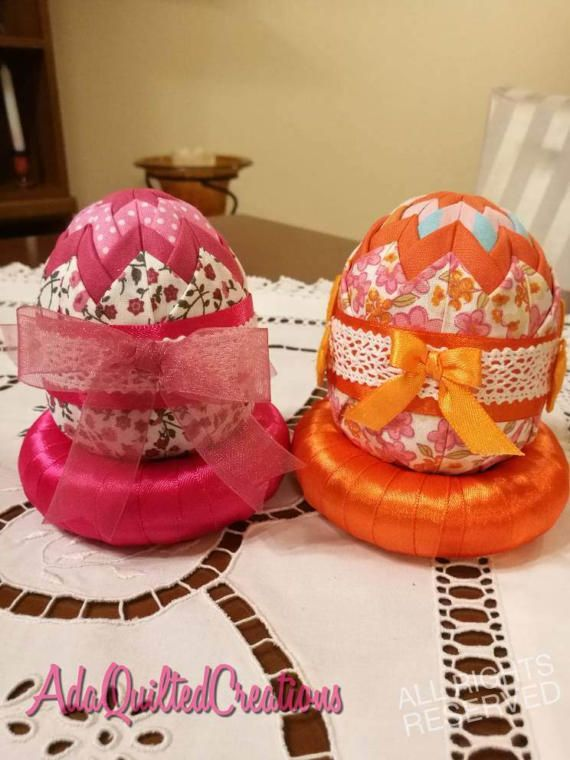 Fabric eggsEaster decorative eggs folded by AdaQuiltedCreations