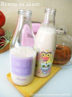 Em busca do cardamomo perdido: Bebida (leite) de arroz - receita Bimby TM5