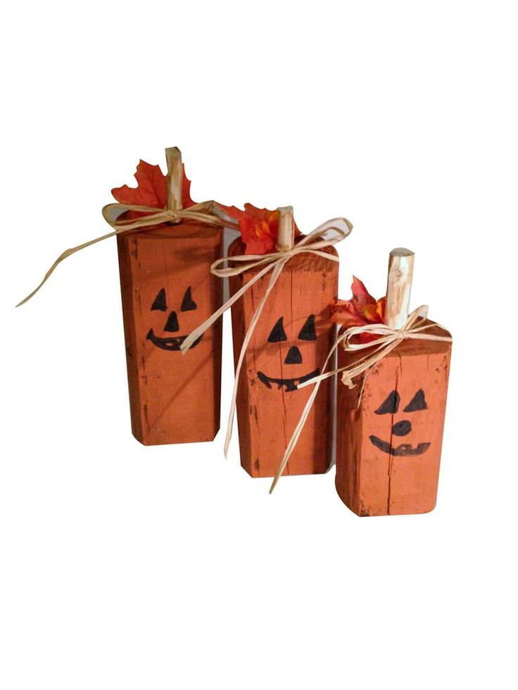 Wood Pumpkins - Rustic Halloween Decor-Halloween Decor-GFT Woodcraft