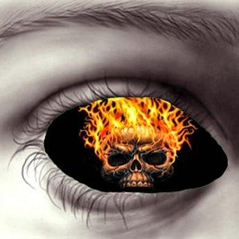 Flaming Skull Eyes *Hidden~Surface*
