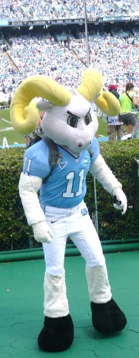 North Carolina Tarheels - football mascot Ramses