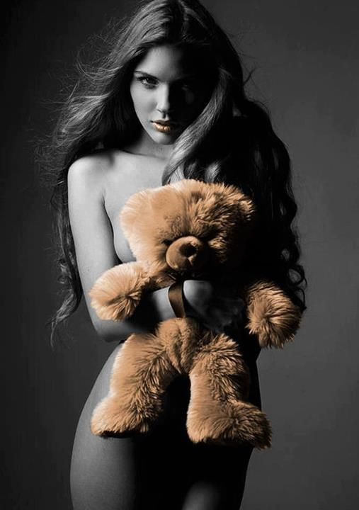 naked-girl-stuffed-bear-naked