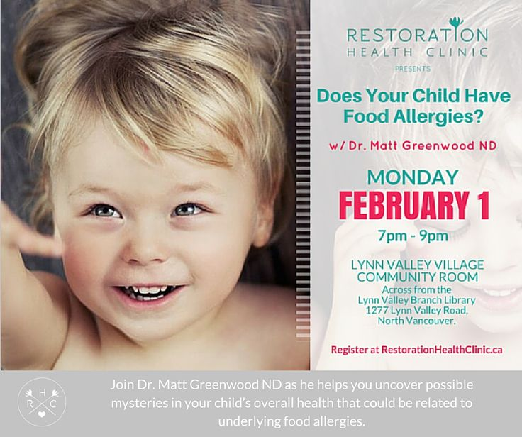 Join Dr. Matt Greenwood ND as he helps you uncover possible mysteries in your child's overall health that could be related to underlying food allergies.